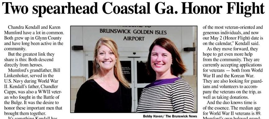 Brunswick News features Honor Flight